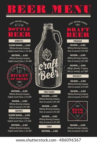 Vector Images, Illustrations and Cliparts Beer menu placemat food