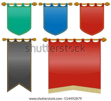Royalty Free Stock Photos and Images Medieval flags in different
