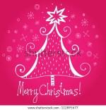Merry Christmas Pink Tree