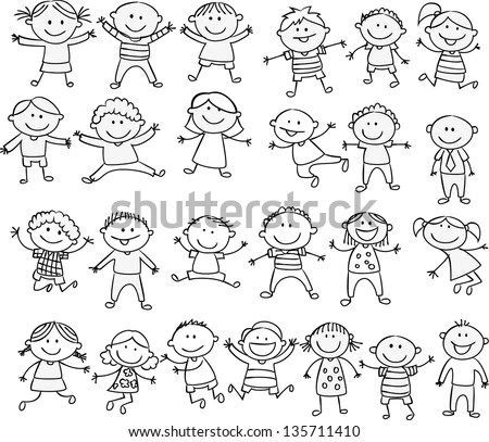 Family Doodles Digital Stamps Clipart Clip Art Illustrations - christmas list templates