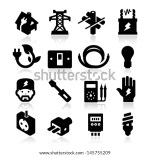 Vector Electricity Icons
