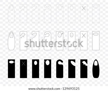 Free Do Not Disturb Door Hanger Vector Set - Download Free Vector
