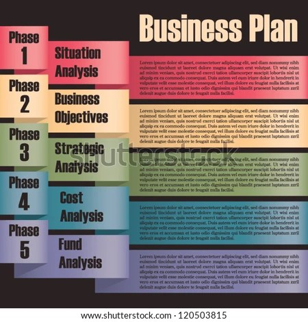 stock-vector-business-plan-modern-design-template-presentation - cost analysis template