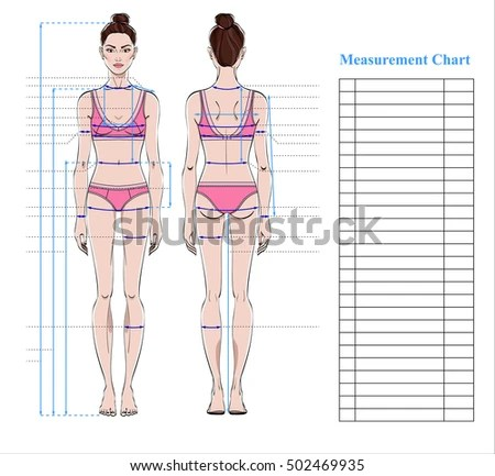Royalty Free Stock Photos and Images Woman body measurement chart