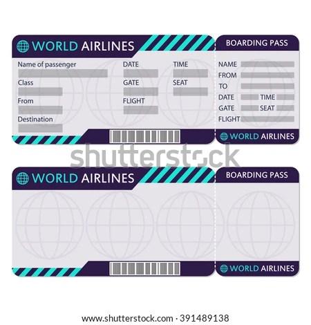 sample plane ticket template