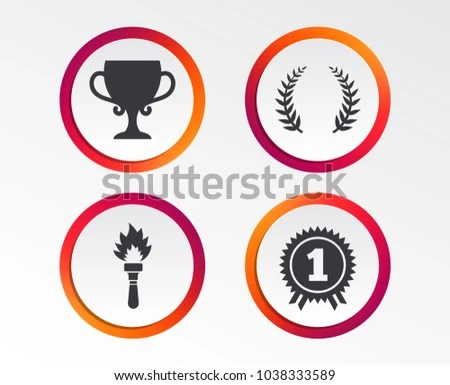 First Place Ribbon Circle Icons - Download Free Vector Art, Stock