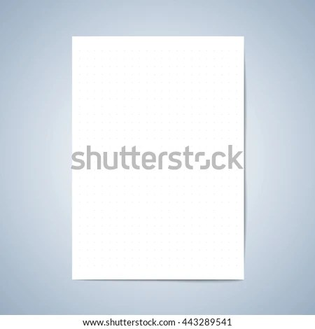 Vector paper Blank paper, Lined paper with pencil, layout template