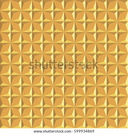 Seamless abstract golden geometric facet surface pattern EZ Canvas