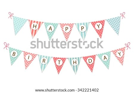 Bunting Party Flag - Download Free Vector Art, Stock Graphics  Images