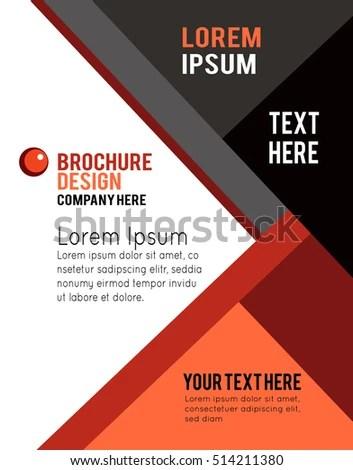 Stylish presentation of business poster, magazine cover, design