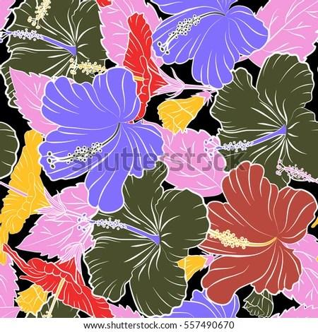 Aloha T-Shirt design Aloha Hawaii, Luau Party invitation on black