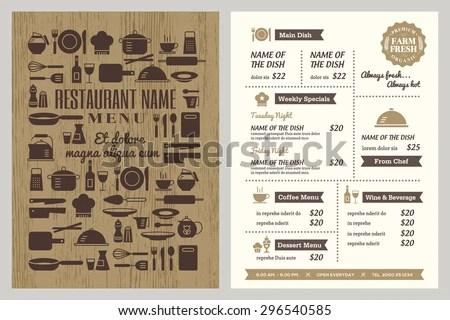 Retro restaurant menu design - Download Free Vector Art, Stock - menu design template