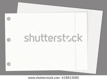 Double Lined Note Vector Paper Background - Download Free Vector Art