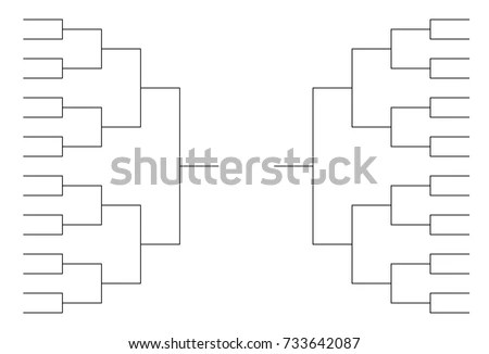 Tournament Bracket Blank Template Vector - Download Free Vector Art