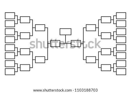 Tournament Bracket Blank Template Vector - Download Free Vector Art