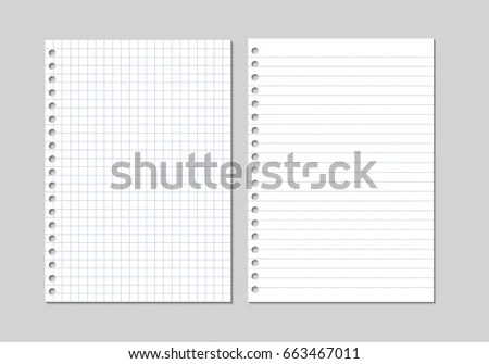 Free Notebook Paper Vector - Download Free Vector Art, Stock - blank lined page