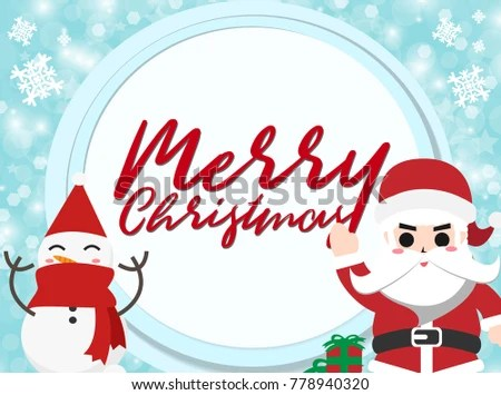 Santa Clauson paper background Christmas Concept Set of brochure