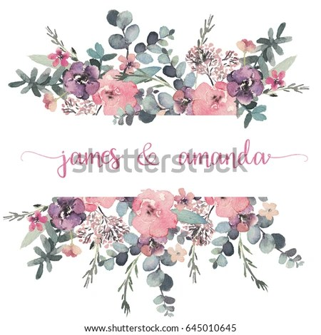 Peony Love Quote Wallpaper Royalty Free Watercolor Floral Elements Isolated On