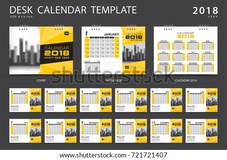 Design Template Of Desk Calendar 2018 - Download Free Vector Art