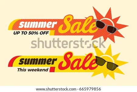 Summer Sale Badges - Download Free Vector Art, Stock Graphics  Images - sale tag template