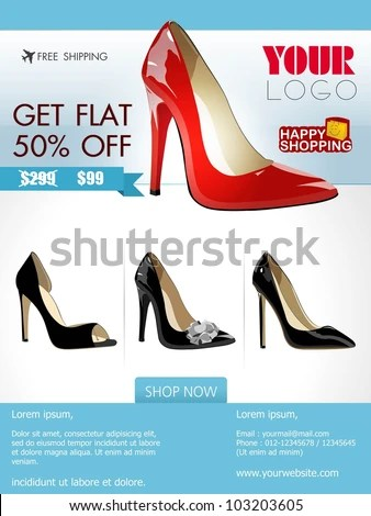 stock-vector-professional-product-flyer-or-banner-design-of-ladies - proposal layouts