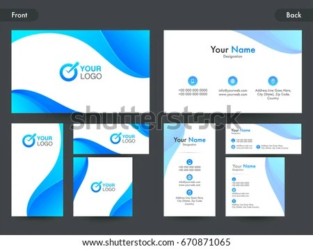 Free Business Blue Name Card Vector - Download Free Vector Art - name card