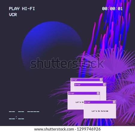 Vaporwave Background Vector - Download Free Vector Art, Stock