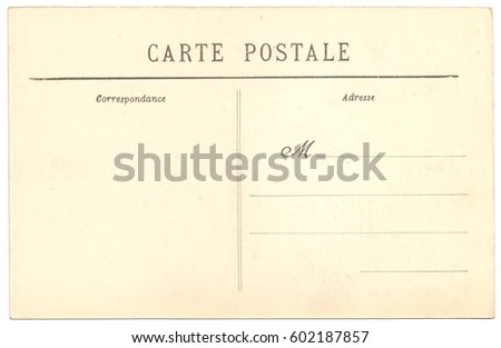 Original Antique Back Side POSTCARD with space for Correspondence