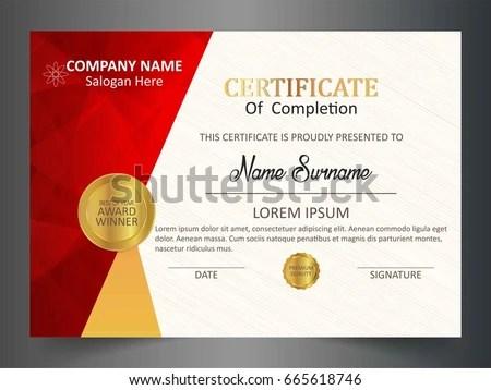 Modern certificate creative design vector set Free vector in