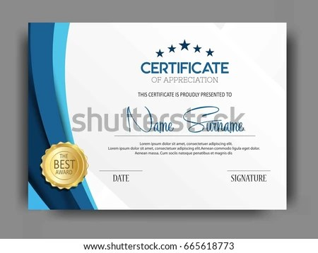 clean and modern diploma certificate template - Download Free Vector