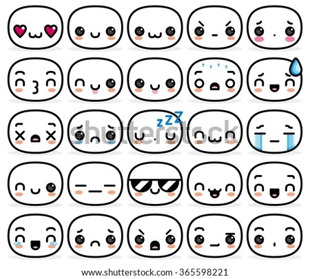 Cute Cartoon Faces - Download Free Vector Art, Stock Graphics  Images