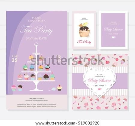 Free Tea Party Invitation Card - Download Free Vector Art, Stock - tea party invitation