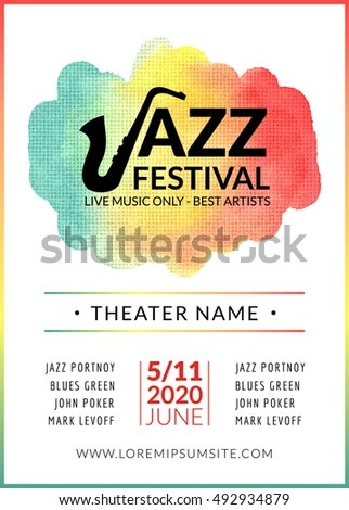 Vector Images, Illustrations and Cliparts Jazz festival vector