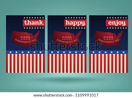 4th Of July Independence Day Card With Stars - Download Free Vector
