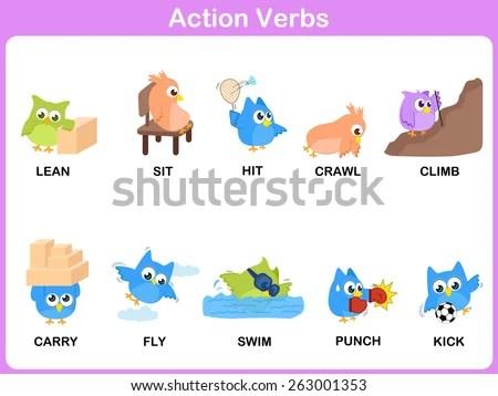 Verbs Free Vector Art - (9 Free Downloads)