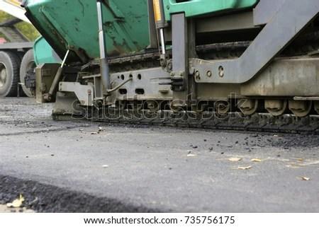 Road repair, the replacement of asphalt using machinery EZ Canvas
