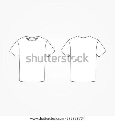 T-shirt vector template 123Freevectors - t shirt template