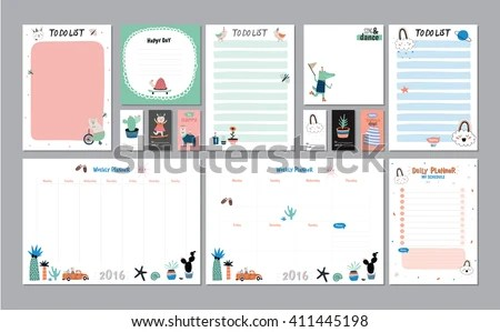 Circular Daily Planner Vector - Download Free Vector Art, Stock - daily organizer template