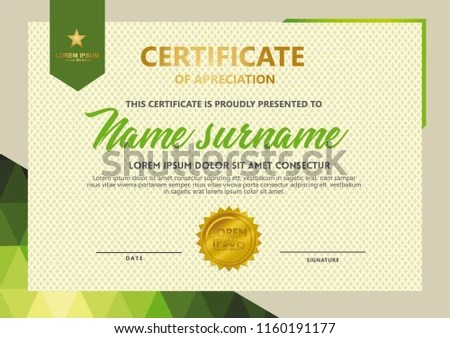 abstract geometric certificate of achievement template - Download