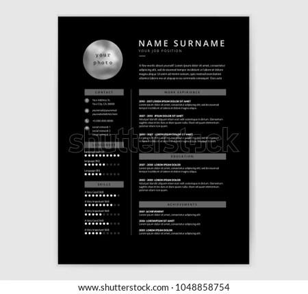 graphic Designer Resume Template - Download Free Vector Art, Stock