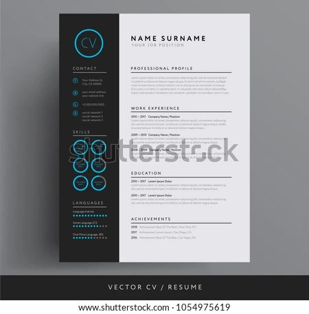 Graphic Designer Resume Template Vector - Download Free Vector Art - resume design sample