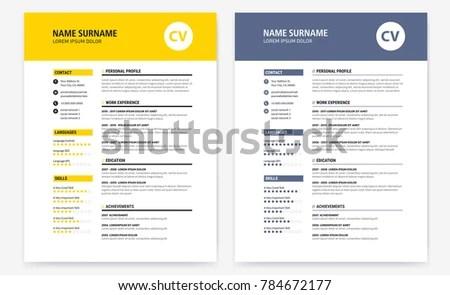 graphic Designer Resume Template - Download Free Vector Art, Stock - resume design templates