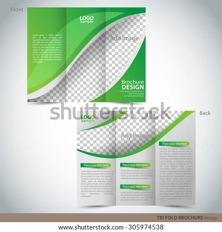 Tri Folder Brochure - Leaflet mock up Can be used as concept for