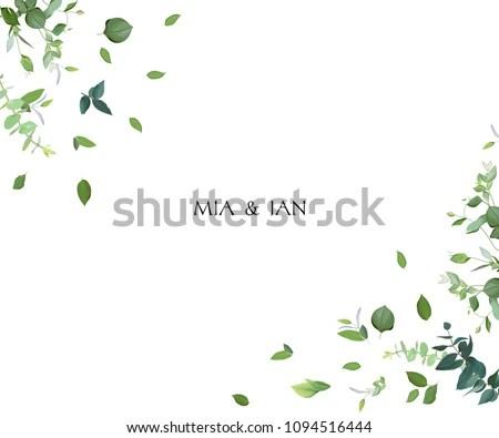 elegant wedding card design with frame of leaves - Download Free