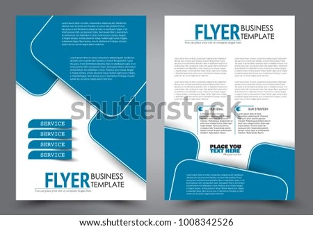 Flyer template Brochure for business, education, presentation