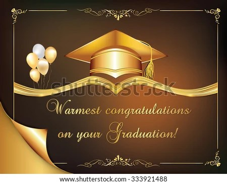 Graduation Card - Download Free Vector Art, Stock Graphics  Images
