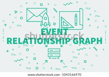 Conceptual business illustration with the words event relationship