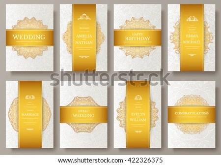 Brochure or flyer templates with retro design - Download Free Vector - retro brochure template