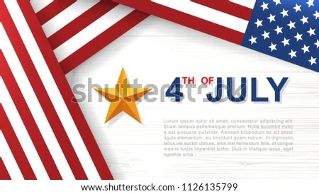 American flag on a wooden background - Download Free Vector Art - America Flag Background
