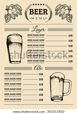 pretty decals, classy brochure Design Inspiration Pinterest - beer menu